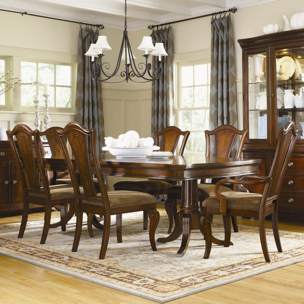 Legacy Classic American Traditions 7-Piece Pedestal Table & Chair Set - Item Number: 9350-622-B+T+2x241+4x240