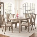 Legacy Classic Apex 7 Piece Rectangular Table and Chair Set - Item Number: 7700-221+2x241KD+4x240KD