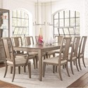Legacy Classic Apex 9 Piece Rectangular Table and Chair Set - Item Number: 7700-221+2x241KD+6x240KD