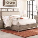 Legacy Classic Apex California King Upholstered Platform Bed with Storage
