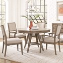 Legacy Classic Apex 5 Piece Round Table and Chair Set - Item Number: 7700-521+2x341KD+340KD