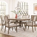 Legacy Classic Apex 7 Piece Round Table and Chair Set - Item Number: 7700-521+2x341KD+4x340KD