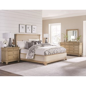 Legacy Classic Ashby Woods Upholstered King Bedroom Group