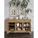 Legacy Classic Ashby Woods 3 Door Credenza With Adjustable/Reversible Wine Bottle Shelves