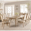 Legacy Classic Ashby Woods Table and Chair Set - Item Number: 7060-222+2X341+6X340