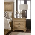 Legacy Classic Ashby Woods 3 Drawer Nightstand with Outlet and USB