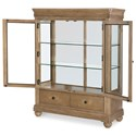 Legacy Classic Ashby Woods 2 Door Display Cabinet with Mirrored Back and Touch Lighting