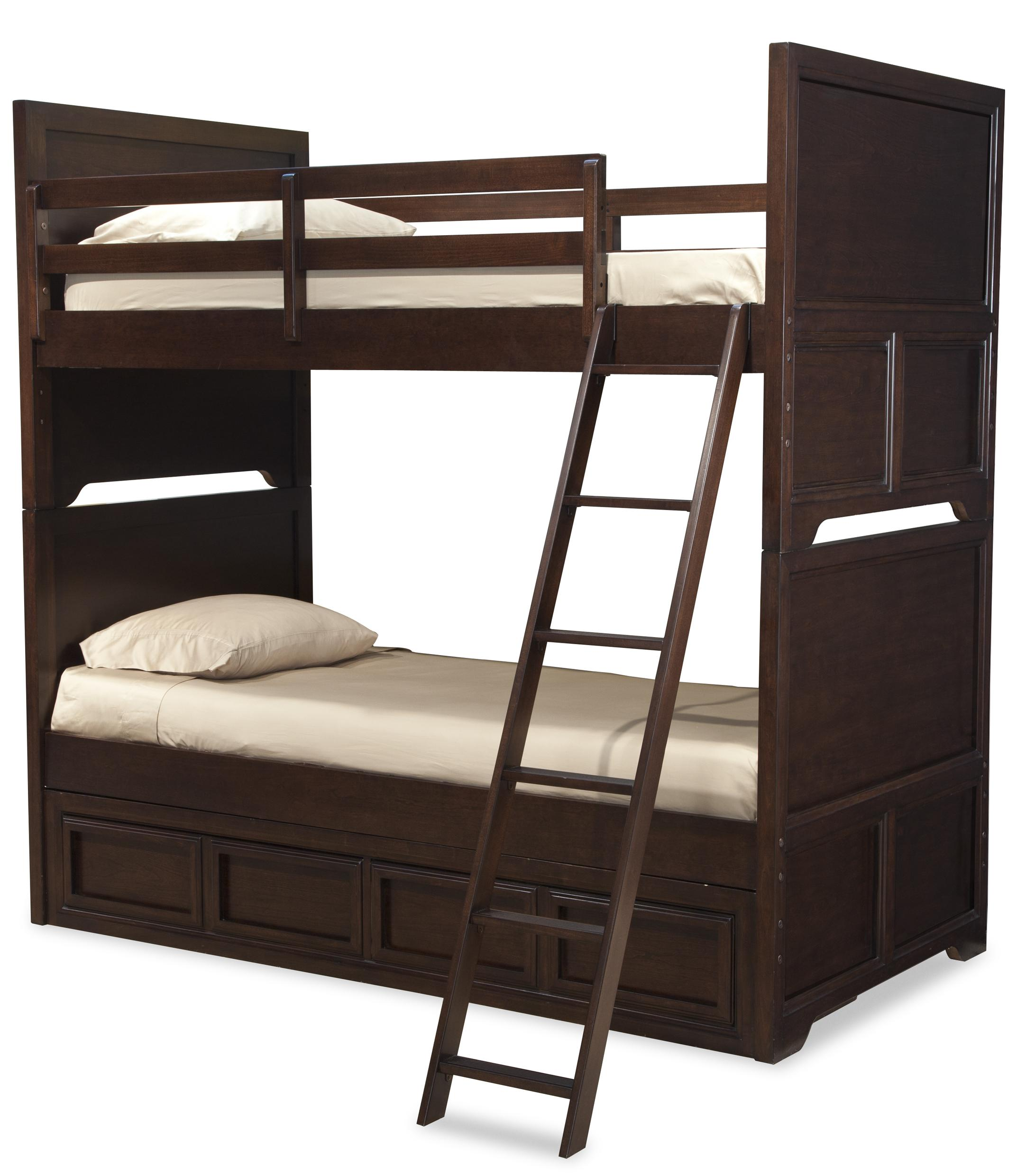 Legacy Classic Kids Benchmark Twin over Twin Bunk Bed with Storage Drawer - Item Number: 2970-8106SK