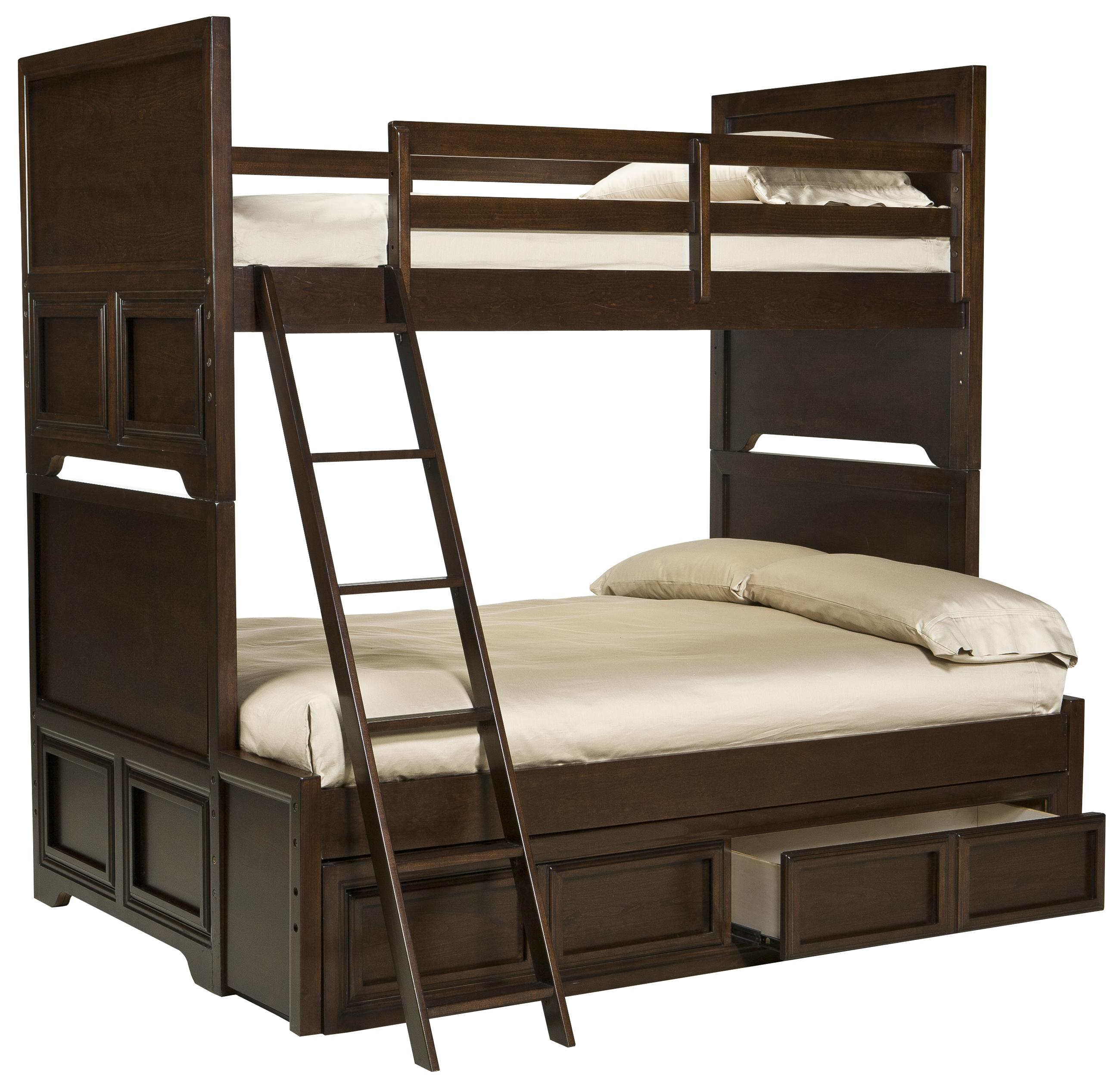 Legacy Classic Kids Benchmark Twin over Full Bunk Bed with Storage Drawer - Item Number: 2970-Twin-over-Full+9300