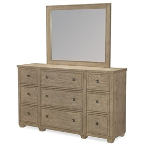 Legacy Classic Bridgewater Dresser and Mirror Set