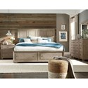 Legacy Classic Bridgewater California King Panel Bed with Storage Footboard