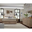 Legacy Classic Bridgewater King Upholstered Bed with Storage Footboard