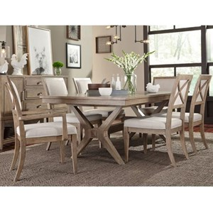 Legacy Classic Bridgewater 7 Piece Trestle Table Set