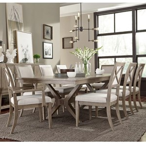 Legacy Classic Bridgewater 9 Piece Trestle Table Set