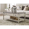 Legacy Classic Brookhaven Lift-Top Cocktail Table Pass-Through Drawers