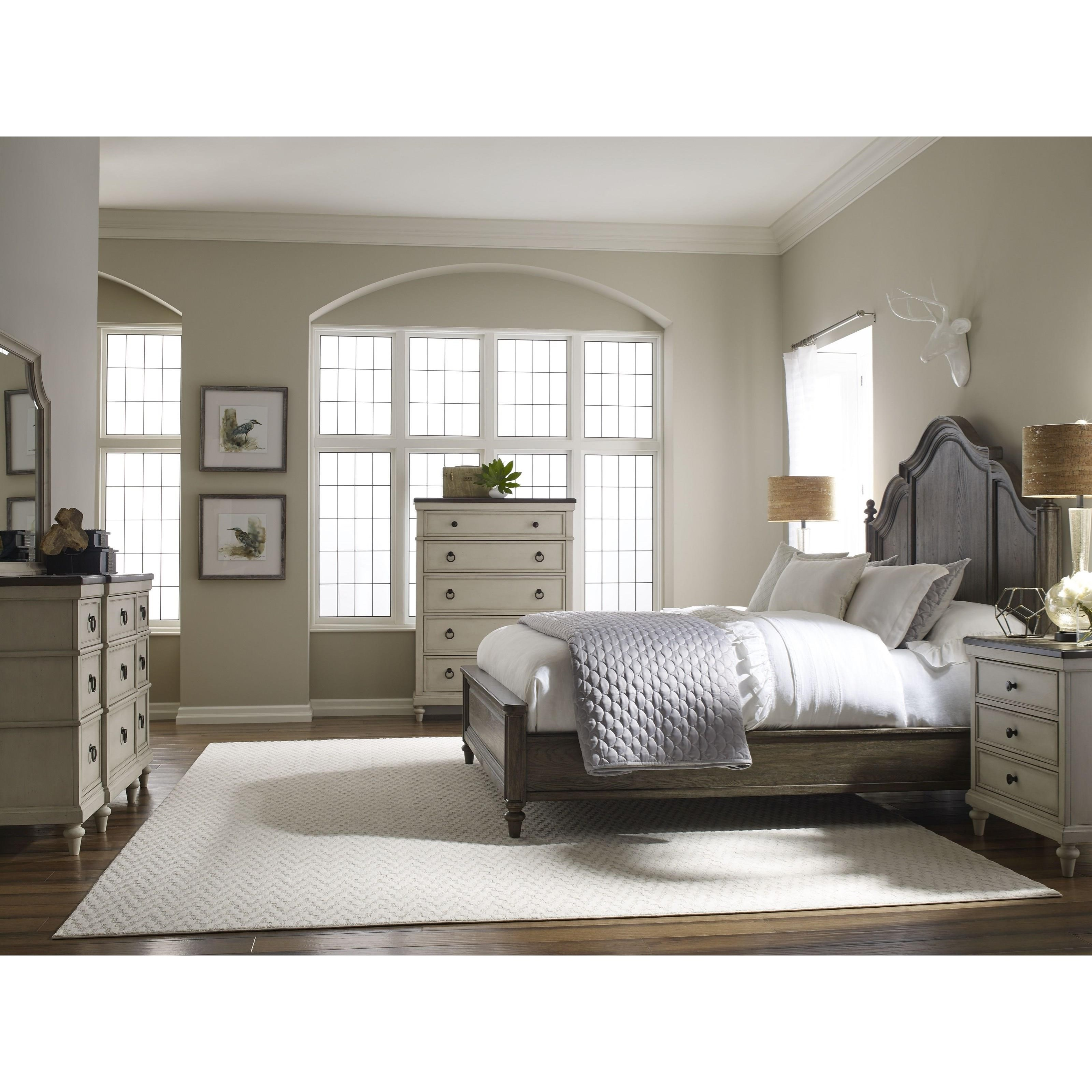 Legacy Classic Brookhaven Queen Panel Bed With Molded Headboard Belfort Furniture Panel Beds