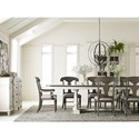 Legacy Classic Brookhaven Trestle Table with 2 Leaves