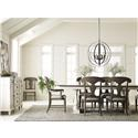 Legacy Classic Brookhaven 5 Piece Dining Set With Trestle Table and 4  - Item Number: 6400DR