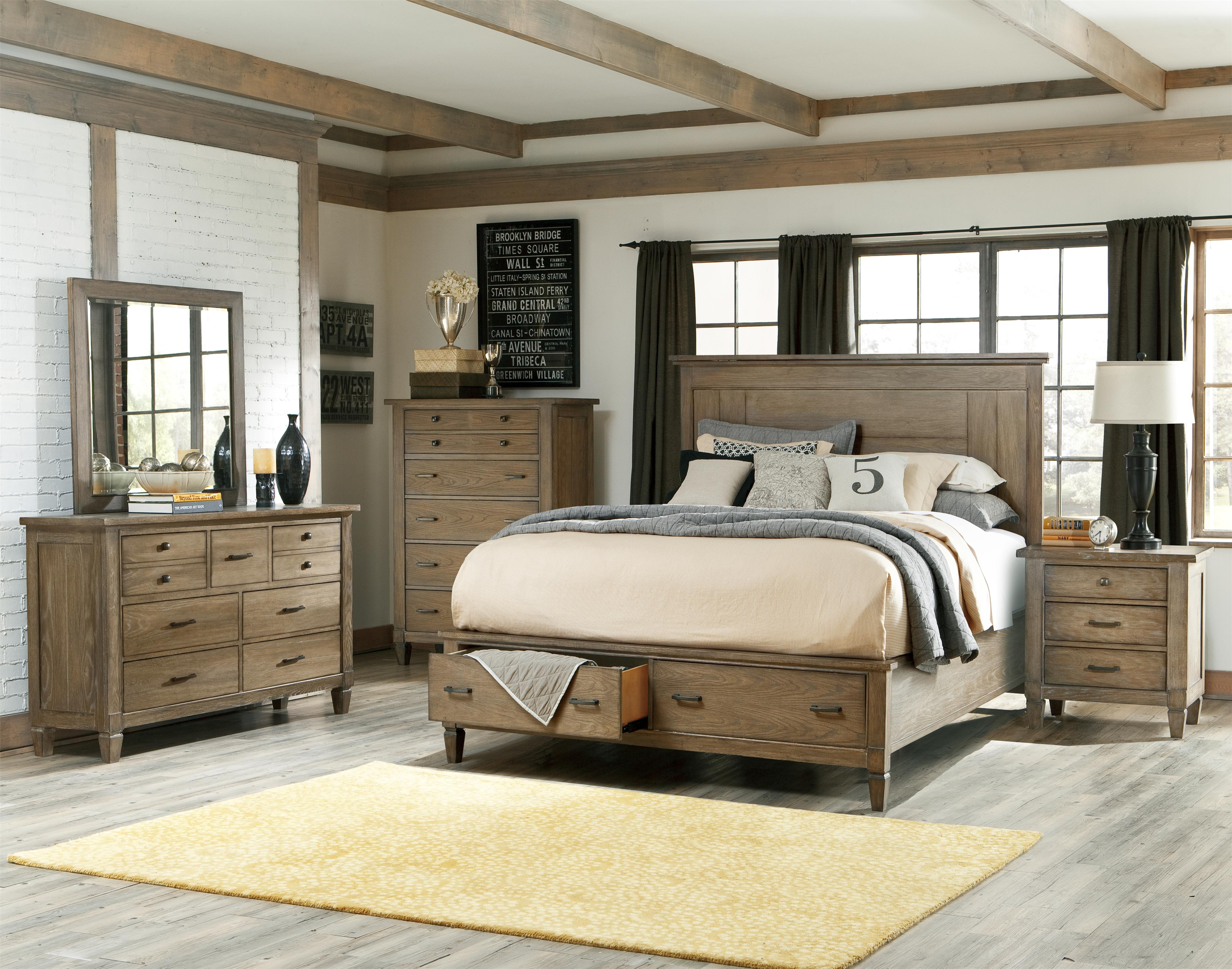 Legacy Classic Brownstone Village Queen Bedroom Group - Item Number: 2760 Q Bedroom Group 1