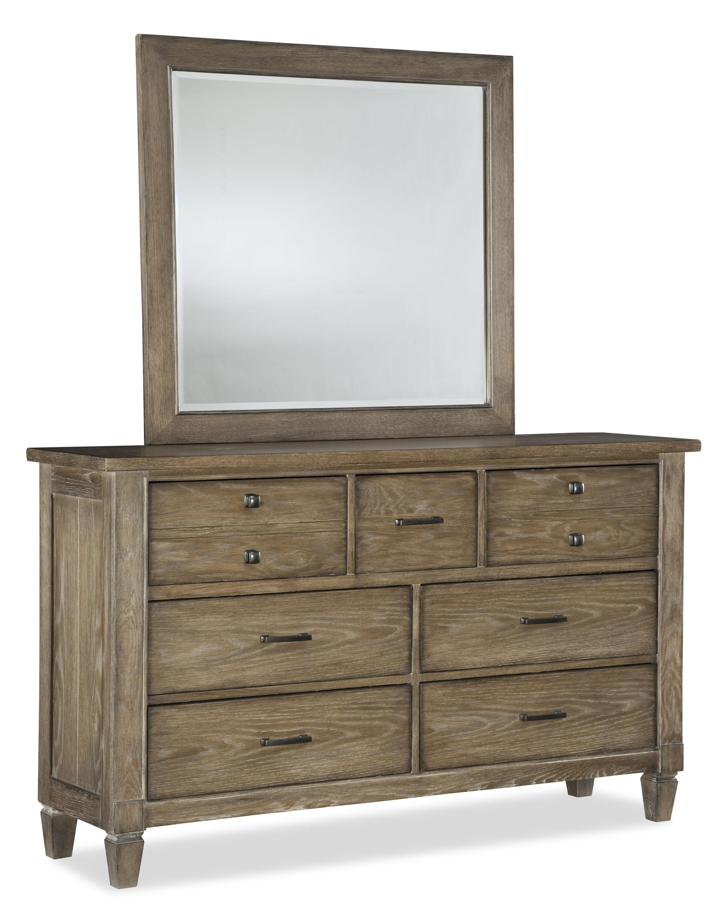 Legacy Classic Brownstone Village Dresser and Mirror Set - Item Number: 2760-1200+0100
