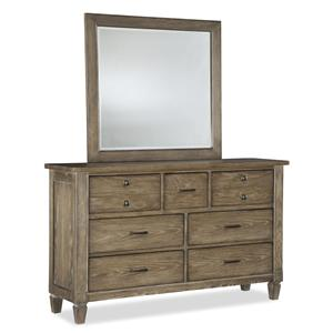 Legacy Classic Brownstone Village Dresser and Mirror Set