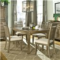 Legacy Classic Brownstone Village 5-Piece Leg Table and Slat Back Chair Set