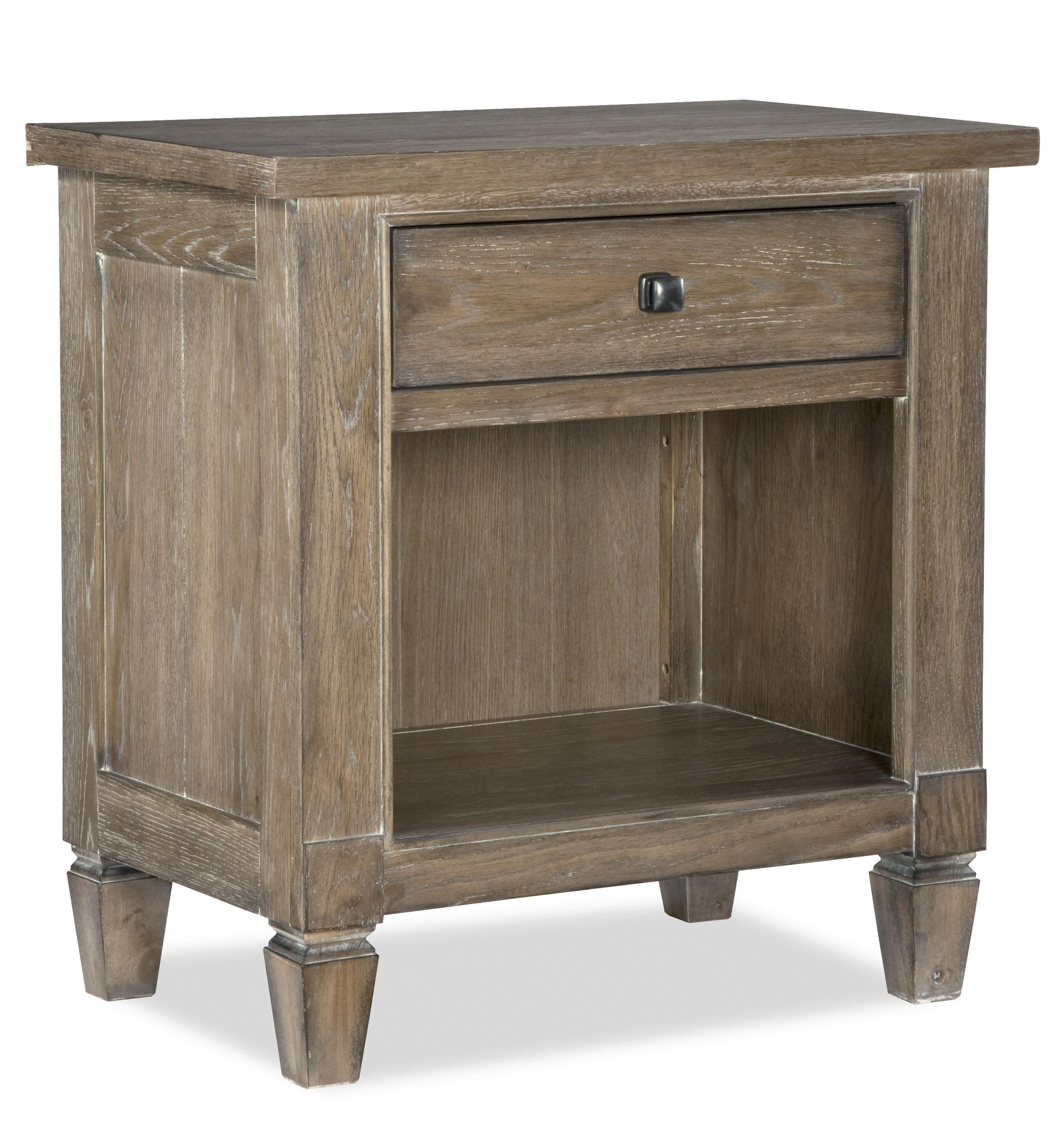 Legacy classic brownstone village open nightstand with for Furniture 4 less outlet