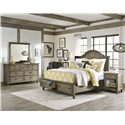 Legacy Classic Brownstone Village Open Nightstand with Outlet and 1 Drawer