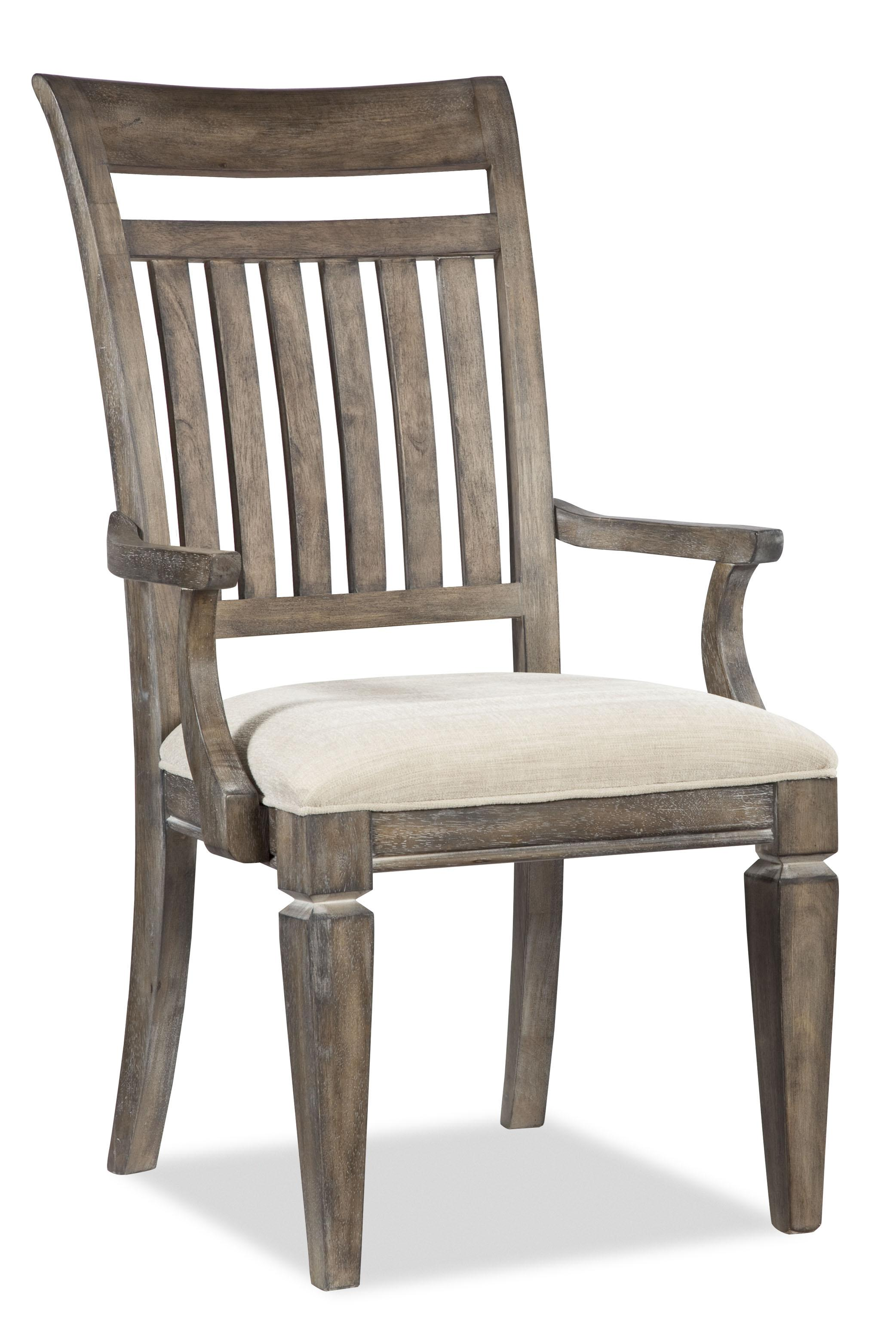 Legacy Classic Brownstone Village Slat Back Arm Chair - Item Number: 2760-341 KD