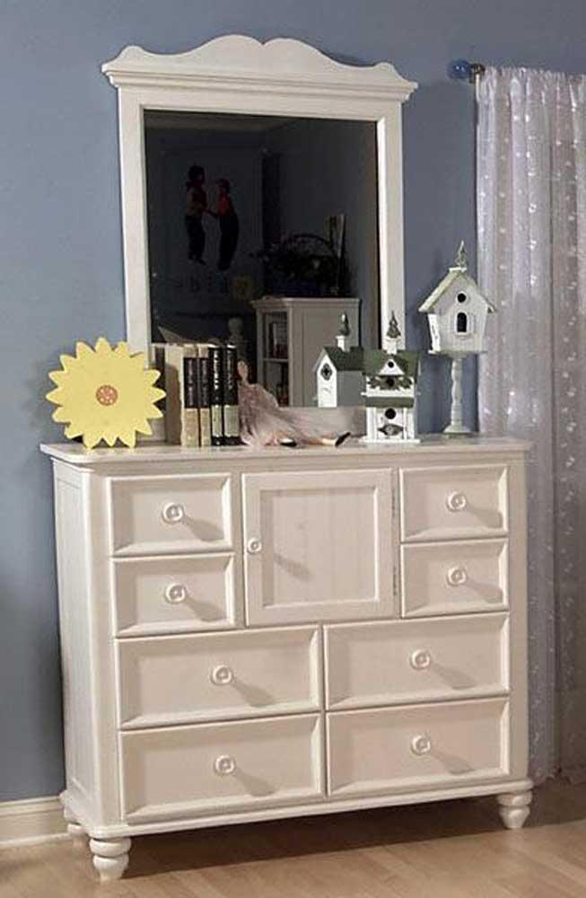 Legacy Classic Kids Summer Breeze Bureau with Door and Mirror - Item Number: bureaumirror-481