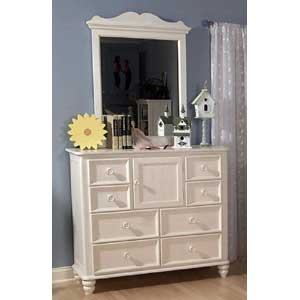 Legacy Classic Kids Summer Breeze 8-Drawer Dressing Bureau with Doors and Mirror