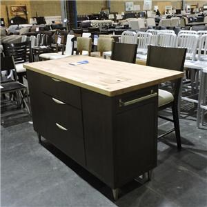 Legacy Classic Clearance Kitchen Island and 2 Stools