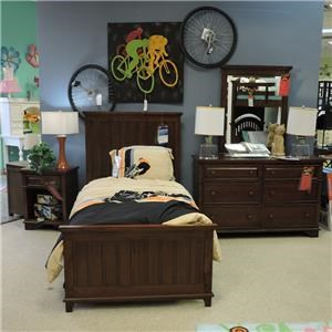 Legacy Classic Clearance Twin Panel Bed, Dresser, Mirror and Nightsta
