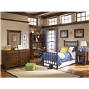 Legacy Classic Kids Dawsons Ridge Schoolhouse Look Wooden Desk Chair with Swivel Seat - Shown with Dresser, Mirror, Desk & Hutch, Metal Bed and Nightstand