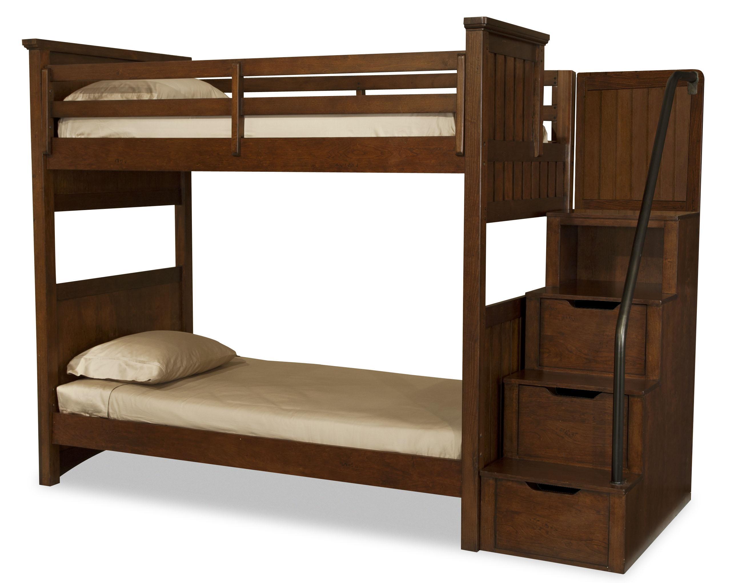 Legacy Classic Kids Dawson's Ridge Twin-over-Twin Bunk w/ Storage Stair - Item Number: 2960-8510+8310+2x888-4923C+8000