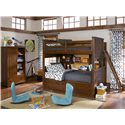 Legacy Classic Kids Dawson's Ridge Twin-over-Twin Bunk with Ladder - Shown with Bookcase Locker, Bunk Bookcase Unit and Underbed Storage Unit.  Bed Shown Does NOT Represent Size Indicated