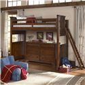 Legacy Classic Kids Dawson's Ridge Twin Size Loft Bed with Ladder - Shown with Dresser (Sold Separately)
