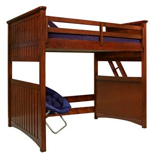 Legacy Classic Kids Dawson's Ridge Full Size Loft Bed with Ladder