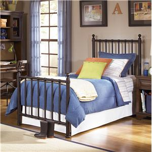 Legacy Classic Kids Dawson's Ridge Twin Off-Black Metal Bed
