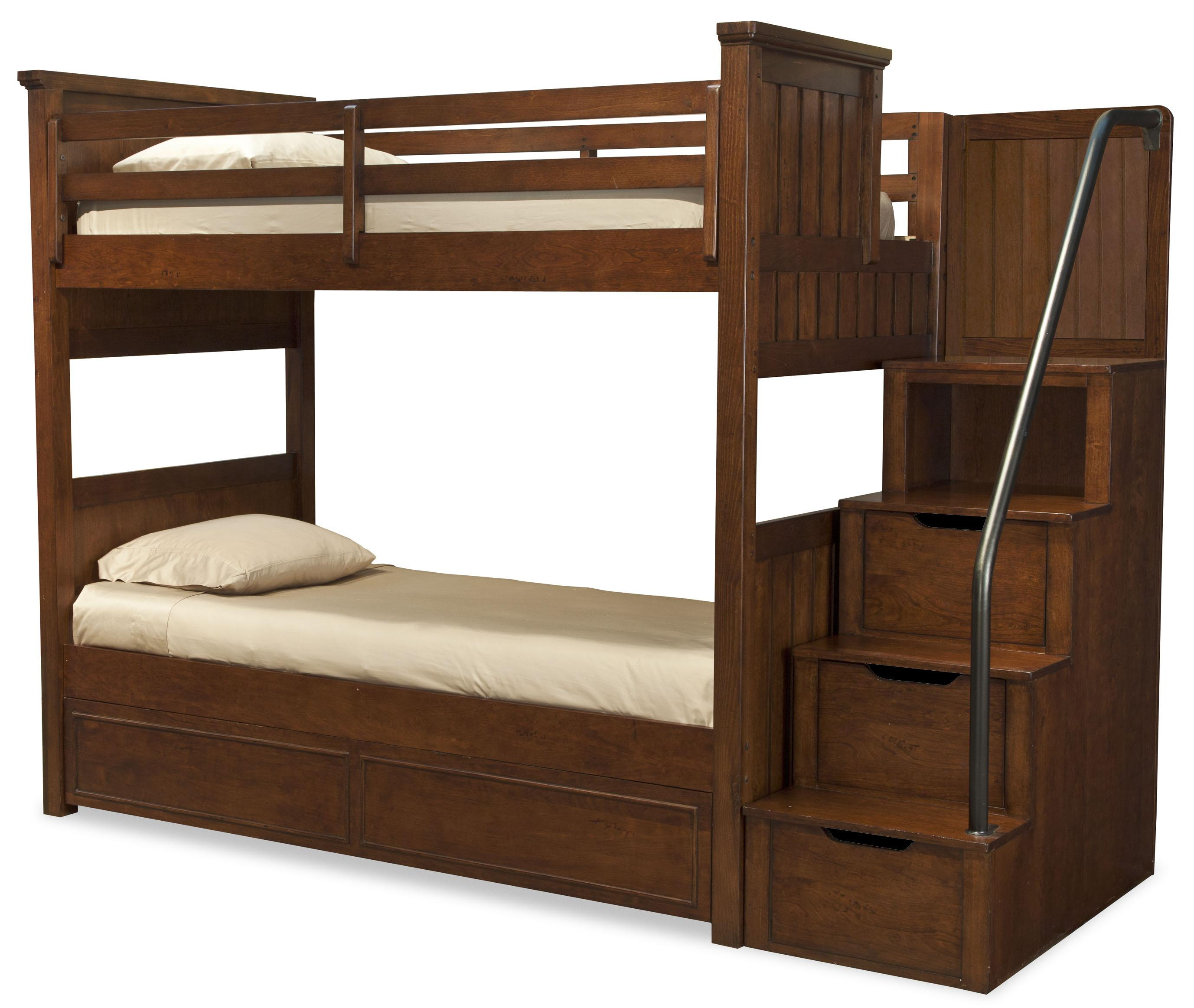 Legacy Classic Kids Dawson's Ridge Full-over-Full Bunk w/ Storage Stair - Item Number: Full-over-FullBunk+8000