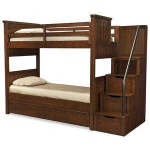 Legacy Classic Kids Dawson's Ridge Full-over-Full Bunk w/ Storage Stair