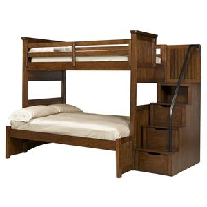 Legacy Classic Kids Dawson's Ridge Twin-over-Full Bunk w/ Storage Stair