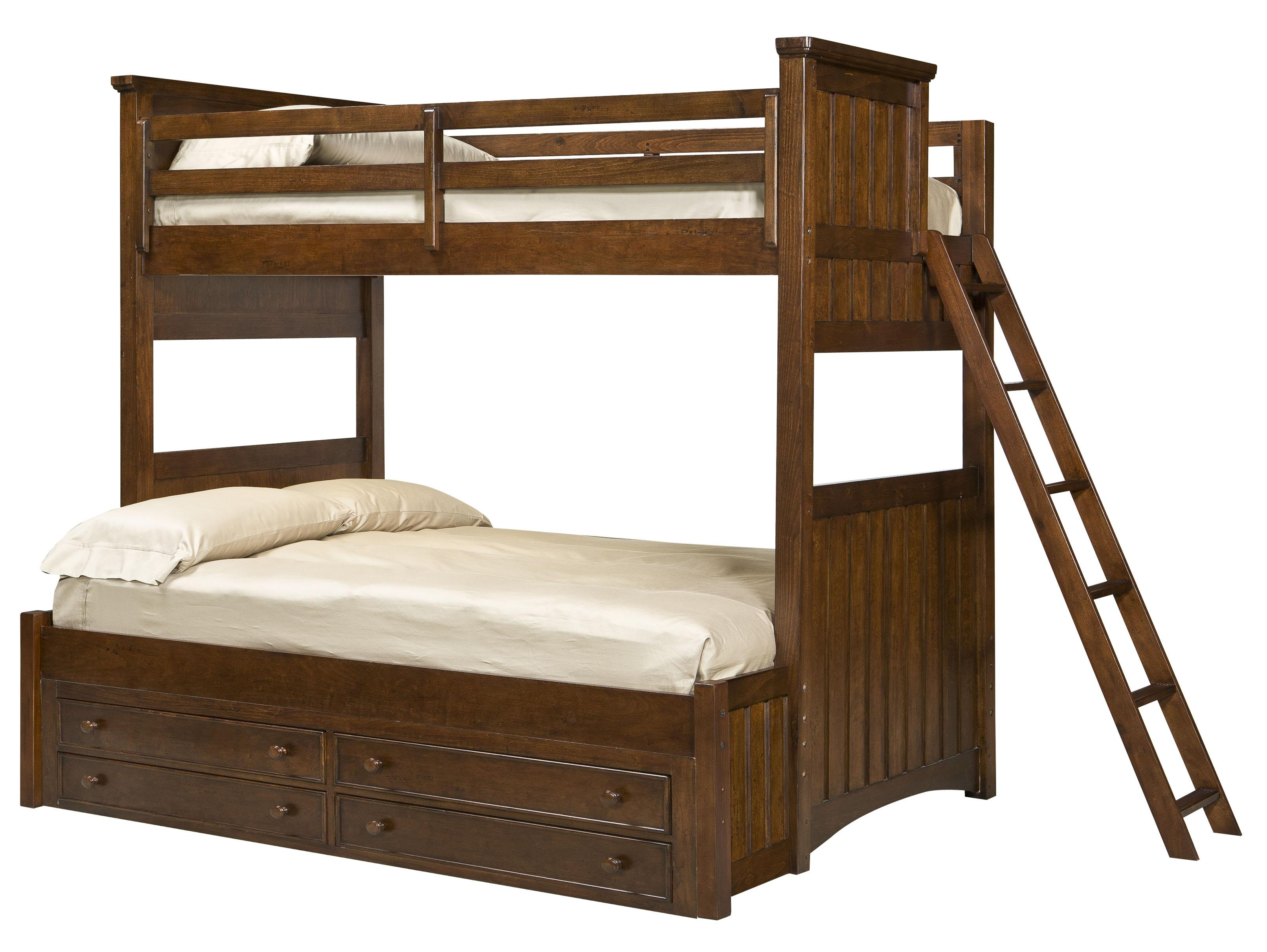 Legacy Classic Kids Dawsons Ridge Twin-over-Full Bunk w/ Underbed Storage Unit - Item Number: Twin-Over-FullBunk+9100