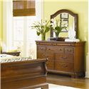 Legacy Classic Evolution 9 Drawer Dresser  - 9180-1200 - Shown with Mirror