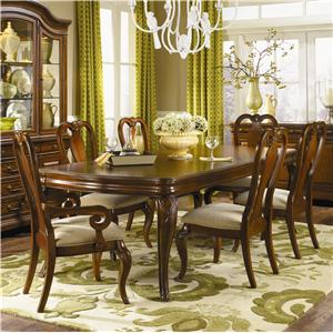 Evolution Seven Piece Dining Set with Queen Anne Chairs by Legacy Classic