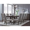 Legacy Classic Facets 9-Piece Table and Chair Set - Item Number: 9760-621+10x140