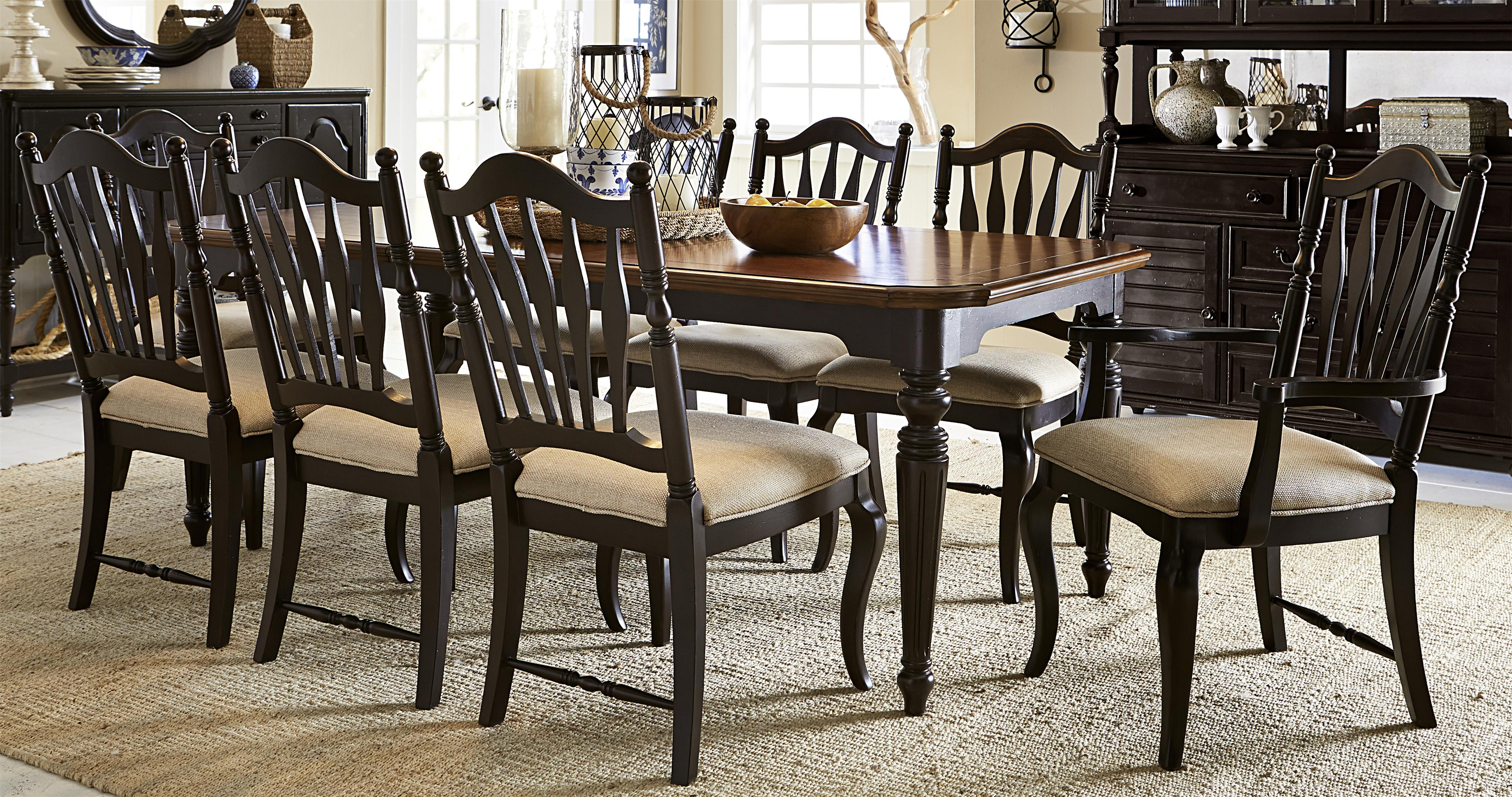 Haven 9 Piece Dining Set With Rectangular Table And Sheaf Back Chairs By  Legacy Classic