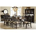 Legacy Classic Haven 9 Piece Dining Set with Rectangular Table and Sheaf Back Chairs - 3511-221+6x140KD+2x141KD