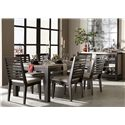 Legacy Classic Helix Slat Back Side Chair with Upholstered Seat