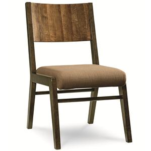 Kateri Side Chair with Wood Back and Upholstered Seat  by Legacy Classic